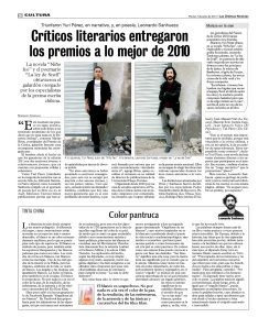 Premio de la Crítica Literaria 2011 : Niño Feo