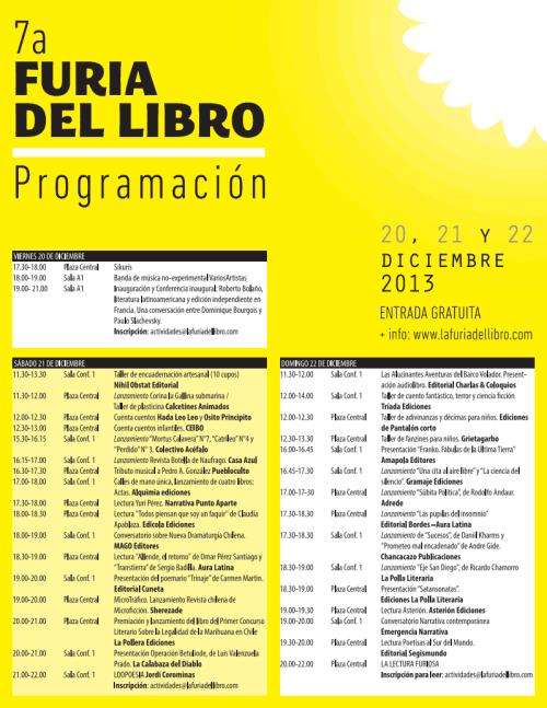 PROGRAMA FURIA DEL LIBRO